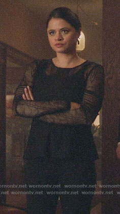 Mel's black lace peplum top on Charmed