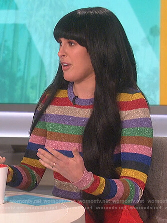 Rumer Willis's striped sweater on The Talk