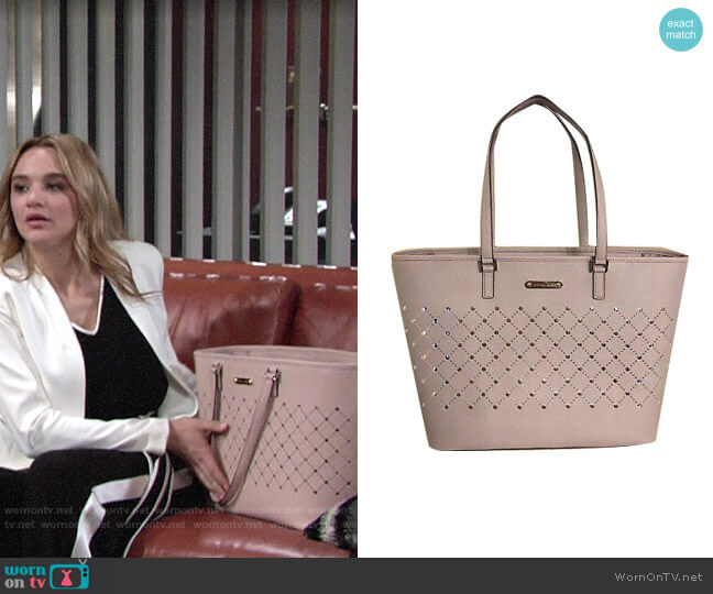Michael Kors Violet Bag worn by Summer Newman (Hunter King) on The Young & the Restless