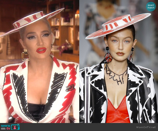 Spring 2019 Ready to Wear Collection by Moschino worn by Erika Girardi  on The Real Housewives of Beverly Hills