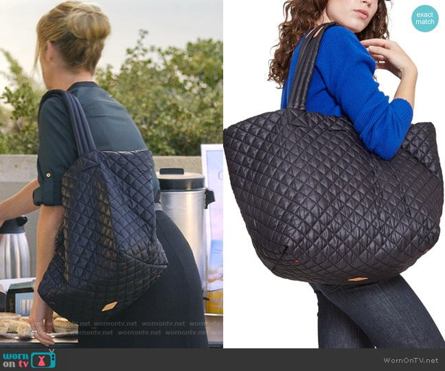 Large Metro Tote by MZ Wallace worn by Jen Harding (Christina Applegate) on Dead to Me