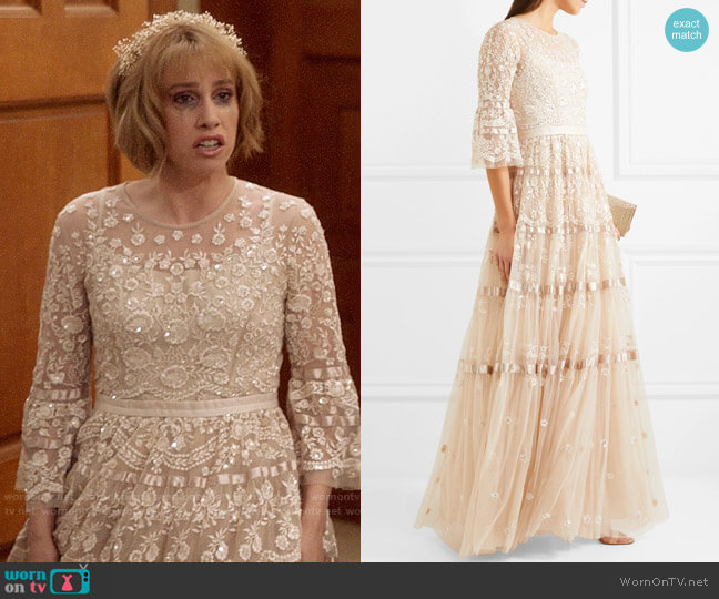 Needle & Thread Roses Embellished Gown  worn by Catherine Meyer (Sarah Sutherland) on Veep