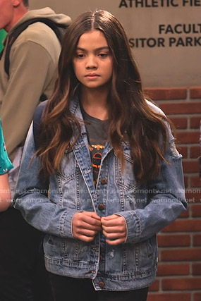 Nick's distressed denim jacket on No Good Nick