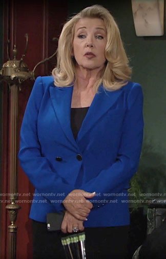 Nikki's blue blazer on The Young and the Restless