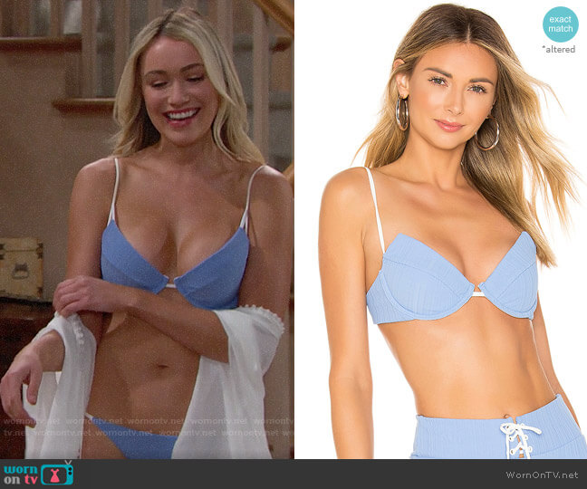 Onia Johanna Bikini Top worn by Florence (Katrina Bowden) on The Bold & the Beautiful