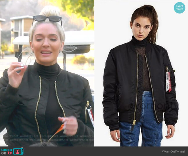 Bomber Jacket by Opening Ceremony x Alpha Industries worn by Erika Girardi  on The Real Housewives of Beverly Hills