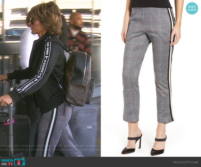 Side Stripe Crop Pants by Pam & Gela worn by Lisa Rinna  on The Real Housewives of Beverly Hills