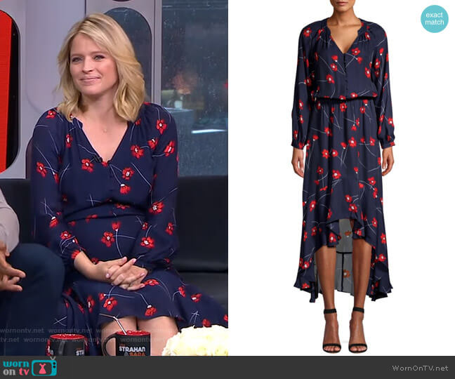 Verity Dress by Parker worn by Sara Haines  on Good Morning America