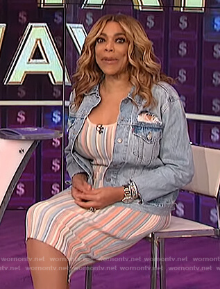 Wendy's striped sleeveless dress on The Wendy Williams Show