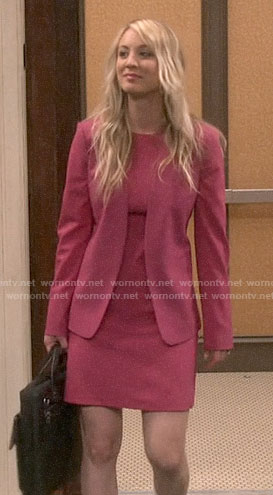 Penny's pink dress and blazer on The Big Bang Theory