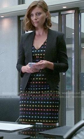 Peyton's rainbow dotted dress on iZombie