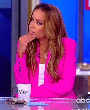 Sunny's hot pink blazer on The View