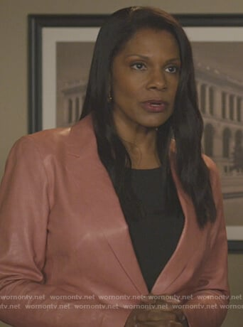 Liz's leather blazer on The Good Fight