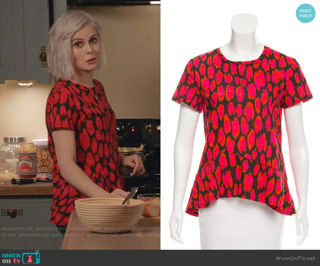 Proenza Schouler Ikat Print Asymmetrical Top worn by Liv Moore (Rose McIver) on iZombie