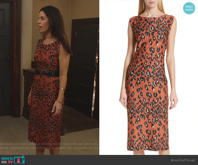 Medina Dress by Rachel Comey worn by Susan Sampson (Ana Ortiz) on Whiskey Cavalier