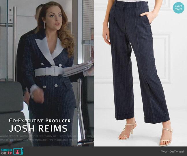 Charlie Pants by Racil worn by Fallon Carrington (Elizabeth Gillies) on Dynasty