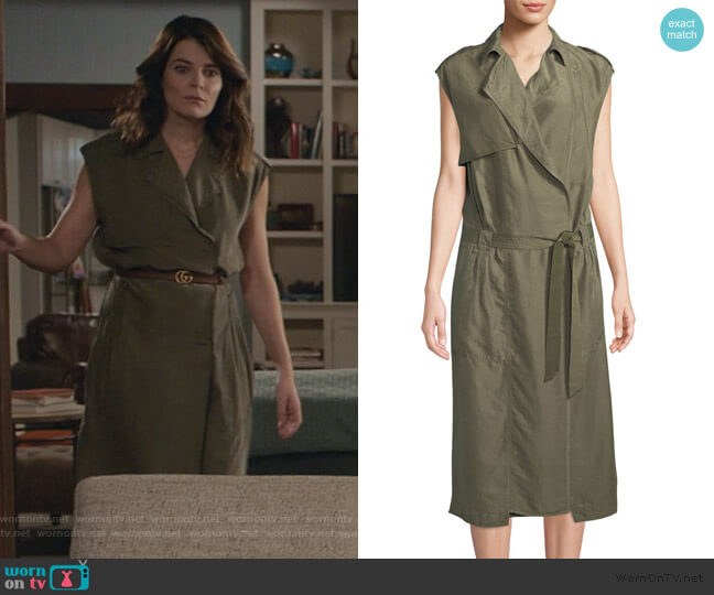 Bailee Trench Dress by Rag & Bone worn by Heather Hughes (Betsy Brandt) on Life in Pieces