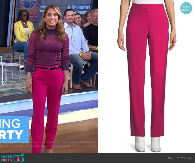 Oman Tux-Stripe Pants by Rag & Bone worn by Ginger Zee  on Good Morning America