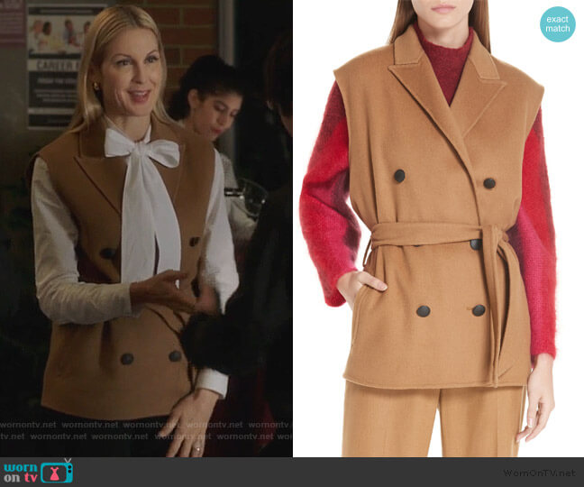 Pearson Wool Blend Vest by Rag & Bone worn by Clair Hotchkiss (Kelly Rutherford) on PLL The Perfectionists