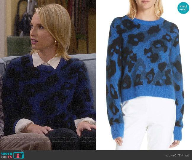 Rag & Bone Leopard Spot Sweater worn by Mandy Baxter (Molly McCook) on Last Man Standing