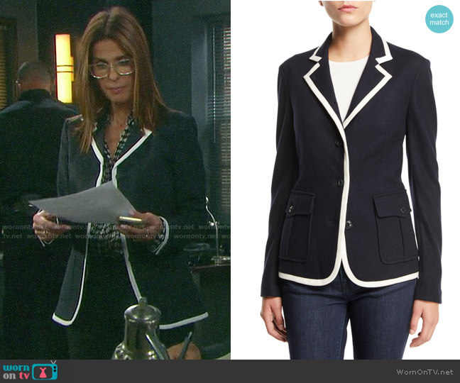 Rag & Bone Uni Blazer worn by Hope Williams (Kristian Alfonso) on Days of our Lives