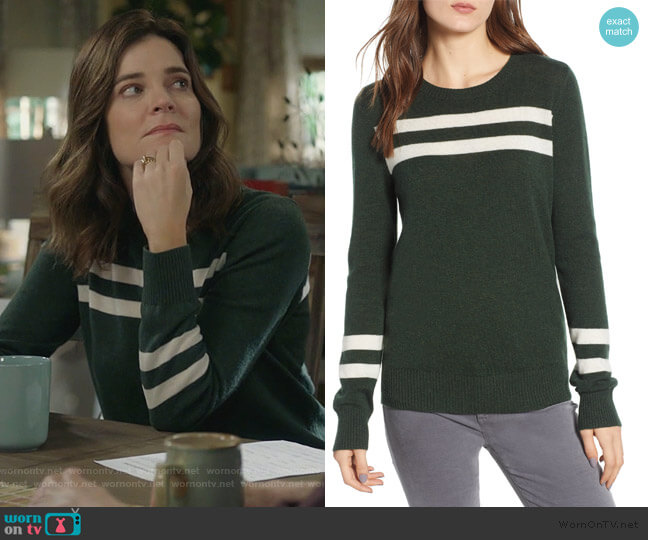Marlowe Sweater by Rebecca Minkoff worn by Heather Hughes (Betsy Brandt) on Life in Pieces