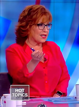 Joy's red button down blouse on The View