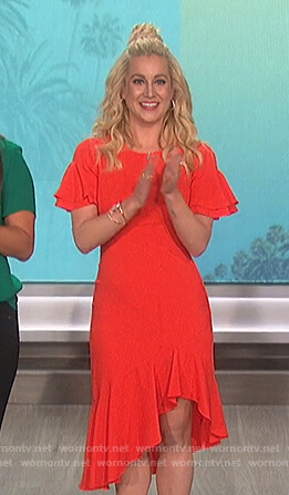 Kellie Pickler's red ruffled dress on The Talk