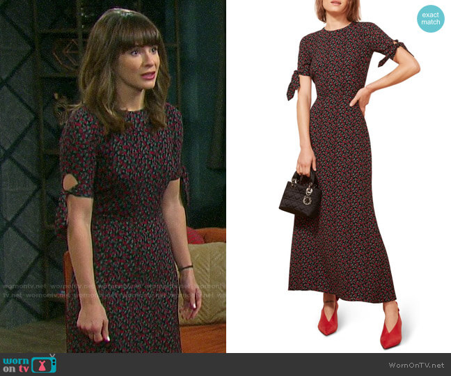 Reformation Amsterdam Dress worn by Sarah Horton (Linsey Godfrey) on Days of our Lives