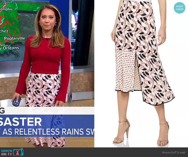 Eline Skirt by Reiss worn by Ginger Zee  on Good Morning America