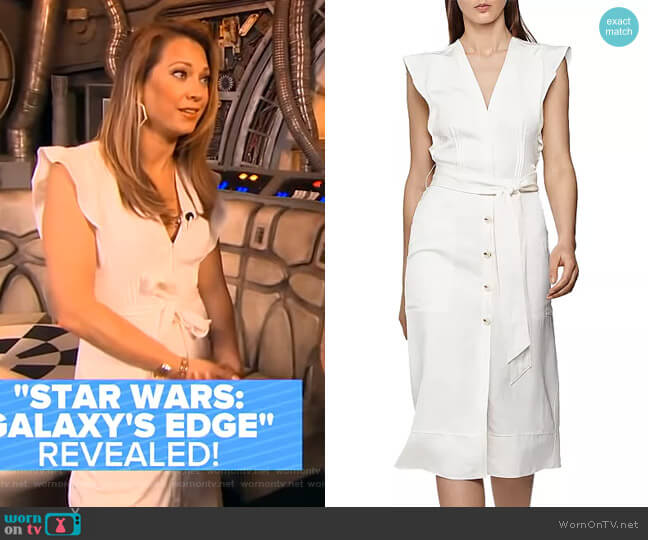 Enid Belted Dress by Reiss worn by Ginger Zee  on Good Morning America