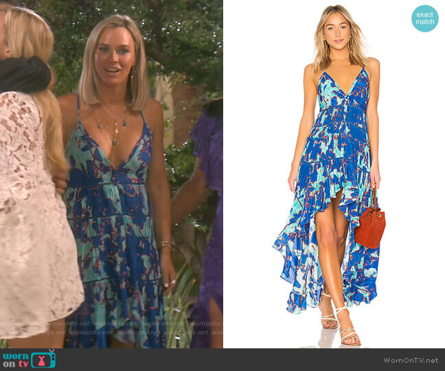 Folium Dress by Rococo Sand worn by Teddi Mellencamp Arroyave  on The Real Housewives of Beverly Hills