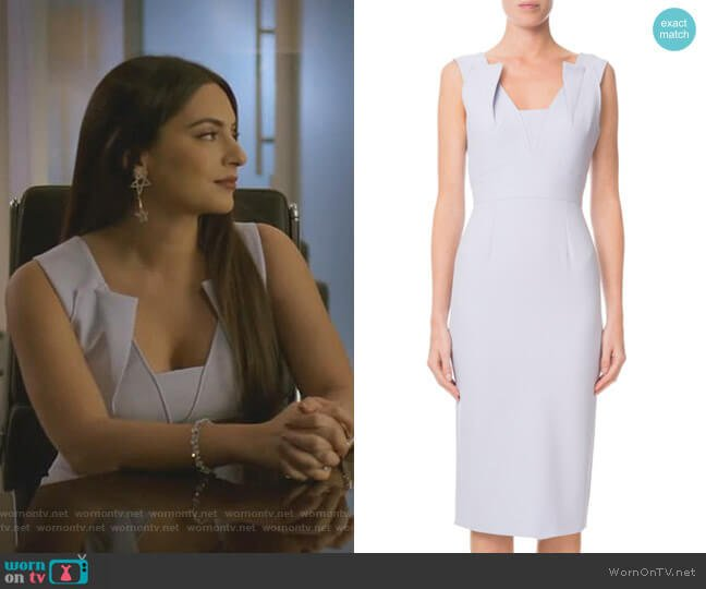 Coleby Dress by Roland Mouret worn by Cristal Jennings (Ana Brenda Contreras) on Dynasty