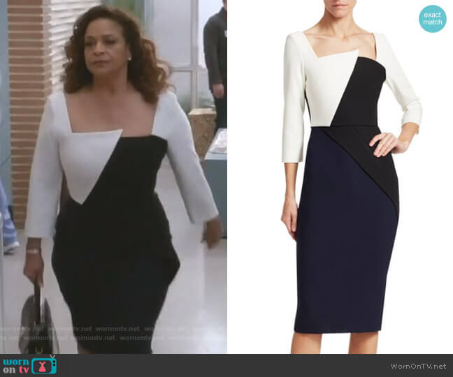Hughes Contrast-Panel Dress by Roland Mouret worn by Catherine Avery (Debbie Allen) on Greys Anatomy