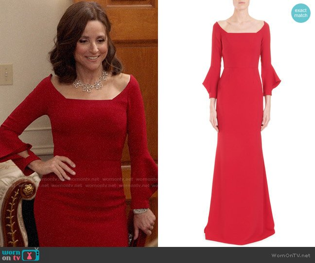 Roland Mouret Coleman Gown worn by Selina Meyer (Julia Louis-Dreyfus) on Veep