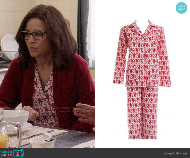 Roller Rabbit Amanda Pajamas worn by Selina Meyer (Julia Louis-Dreyfus) on Veep