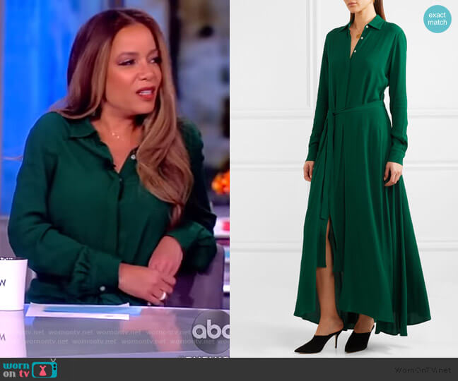 Crepe maxi dress by Rosetta Getty worn by Sunny Hostin  on The View