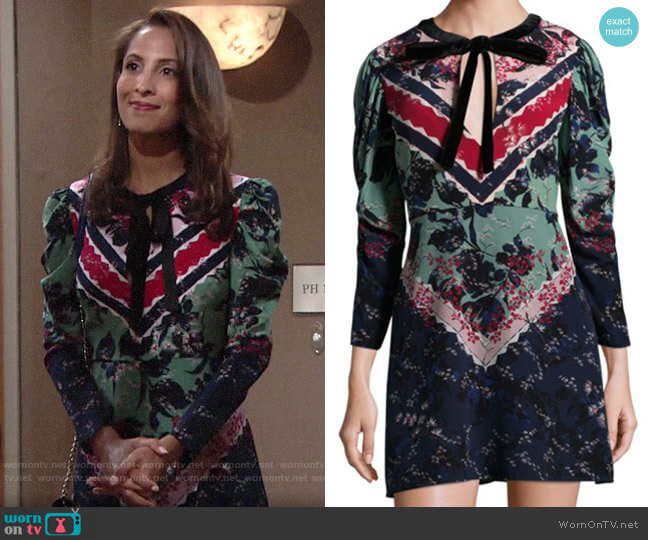 Saloni Aleria Dress worn by Lily Winters (Christel Khalil) on The Young & the Restless
