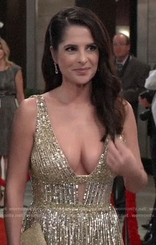 Sam's gold Nurse's Ball gown on General Hospital