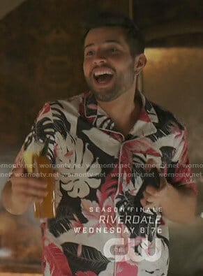 Sam's tropical Hawaiian shirt on Dynasty