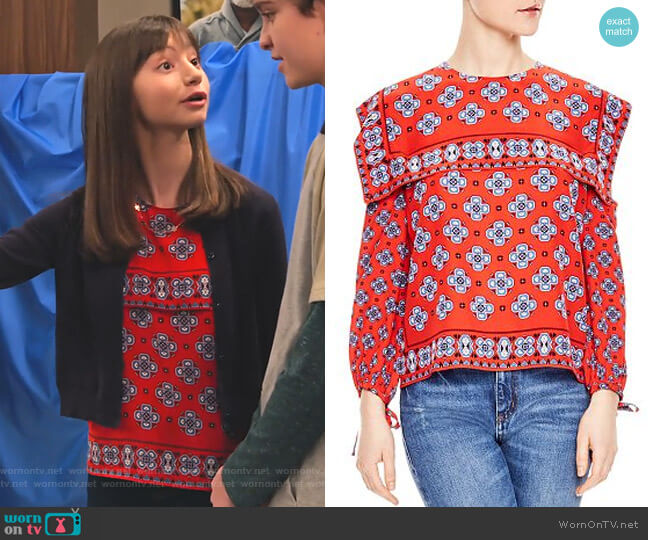 Dalla Top by Sandro worn by Molly (Lauren Lindsey Donzis) on No Good Nick