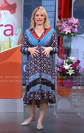 Sara's printed shirtdress on GMA Strahan And Sara