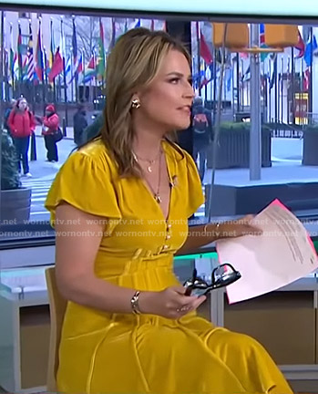 Savannah's yellow velvet dress on Today