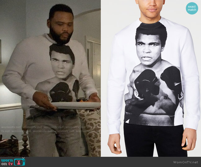 Sean John Muhammad Ali Graphic Sweatshirt worn by Andre Johnson (Anthony Anderson) on Blackish