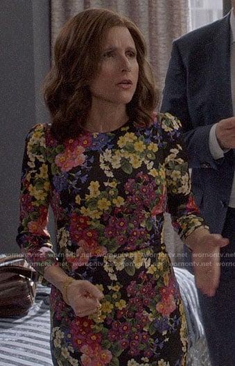 Selina's floral sheath dress on Veep