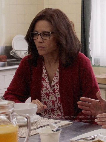 Selina's monkey print pajamas on Veep