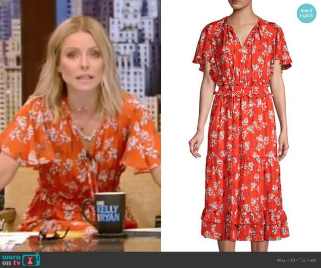 Mercerie Dress by Shoshanna worn by Kelly Ripa  on Live with Kelly & Ryan