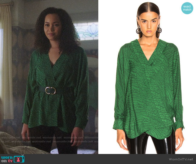 Smythe Kimono Blouse worn by Macy Vaughn (Madeleine Mantock) on Charmed
