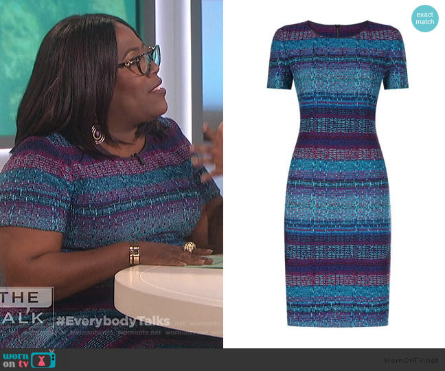 Ellah Knit Dress by St. John Collection worn by Sheryl Underwood  on The Talk