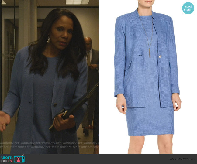 Sarga Knit Twill Jacket by St. John worn by Liz Reddick-Lawrence (Audra McDonald) on The Good Fight